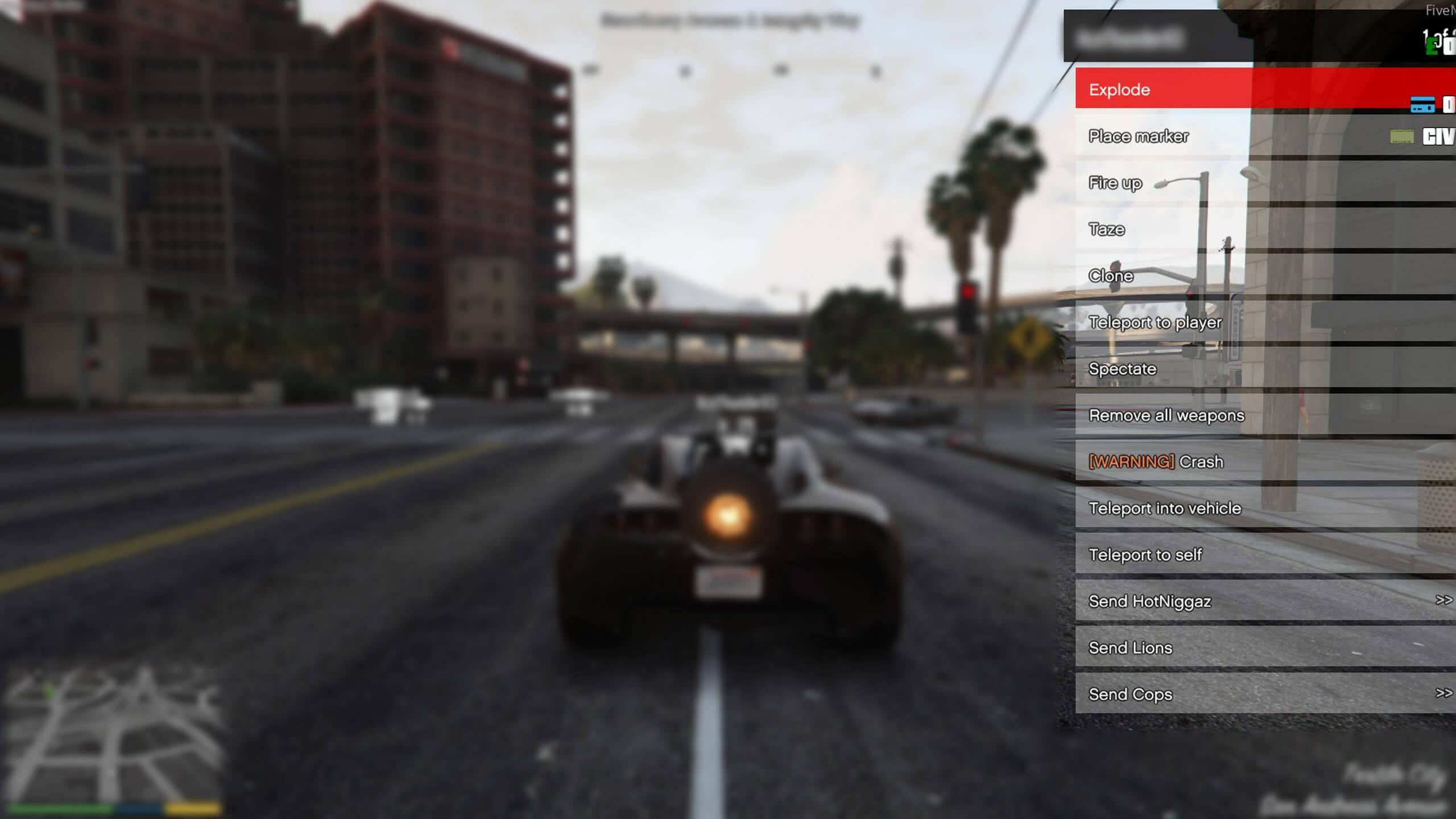 GTA RP mod menu spawn vehicles